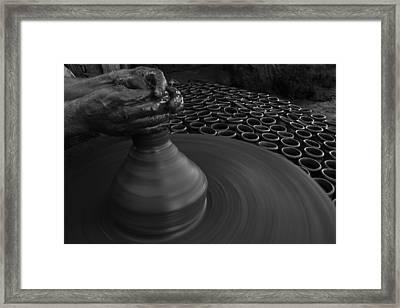 Skc 0132 Clay Molding Framed Print by Sunil Kapadia