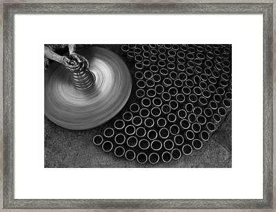 Skc 0142 The Creative Fingers Framed Print by Sunil Kapadia