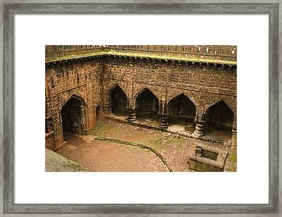 Skc 3278 The Ancient Courtyard Framed Print by Sunil Kapadia