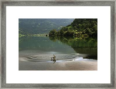 Skc 3996 At The Edge Of A Circle Framed Print
