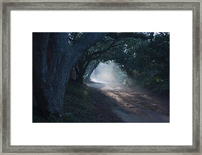 Skc 4671 Road Towards Light Framed Print