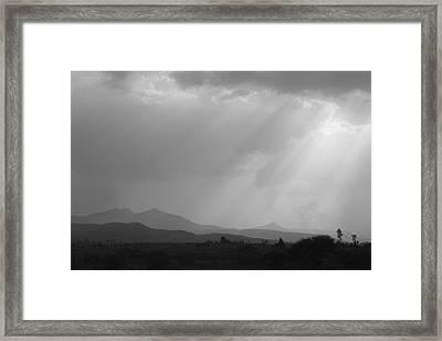 Skc 4928 Blessings Are Showering Framed Print by Sunil Kapadia