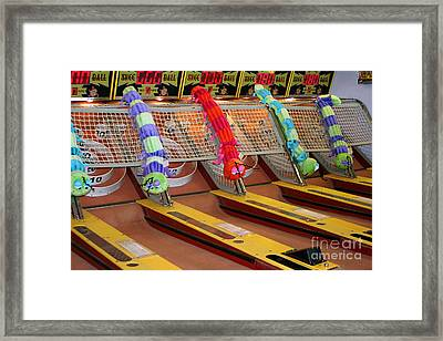Skee Ball Lanes Framed Print