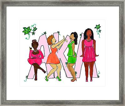 Skee Wee My Soror Framed Print by Diamin Nicole