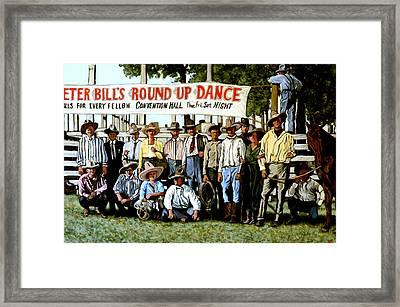 Skeeter Bill's Round Up Framed Print