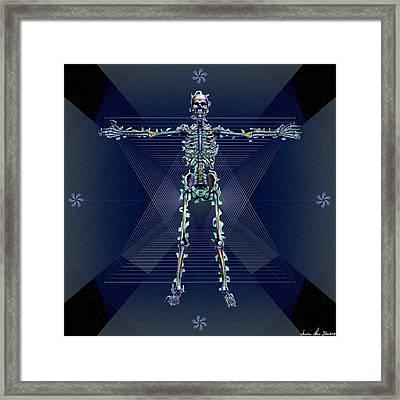 Framed Print featuring the digital art Skeletal System by Iowan Stone-Flowers