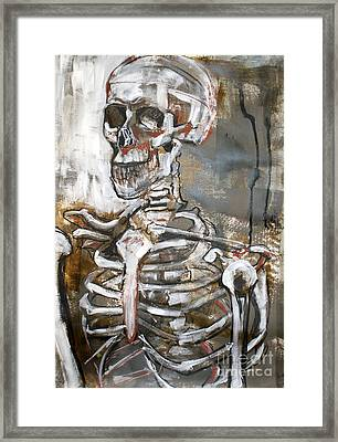 Skeleton 1 Framed Print