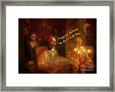 Skeleton Card 2016 Framed Print