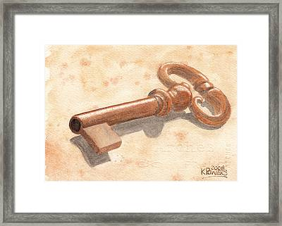 Skeleton Key Framed Print by Ken Powers