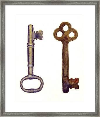 Skeleton Keys Framed Print by Michael Vigliotti