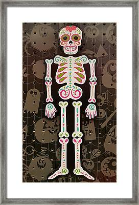 Skeleton Muertos  Framed Print by Rob Hans