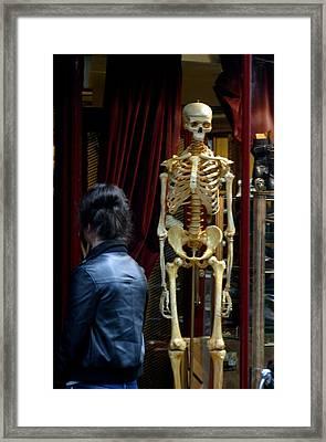 Skeleton Staff Framed Print by Jez C Self