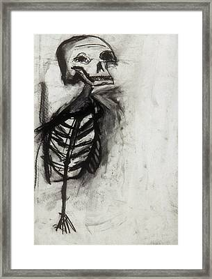 Skeleton Study Framed Print by Jamie Wooten