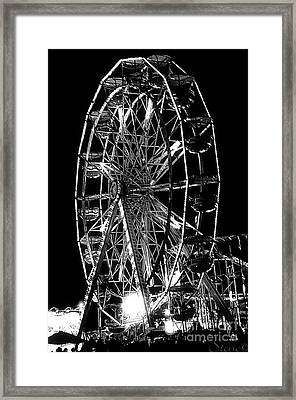 Skeleton Wheel   Framed Print