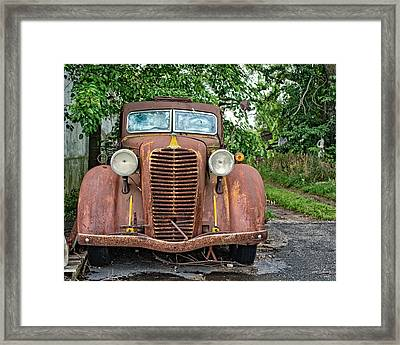 Diamond T In Color Framed Print by Emily Kay