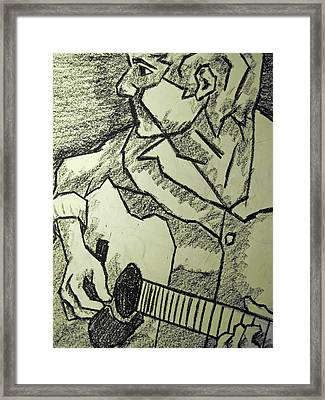 Sketch - Guitar Man Framed Print
