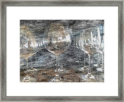 Wine Glasses Framed Print by Jonathan Nguyen