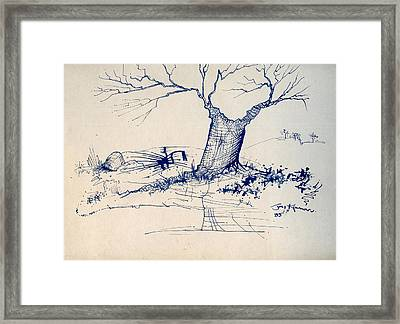 Sketch 6 Framed Print by Joan Kamaru
