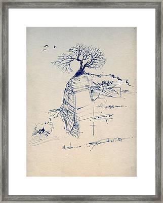 Sketch 7 Framed Print by Joan Kamaru