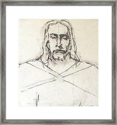 Sketch A Of Christ Framed Print by G Cuffia