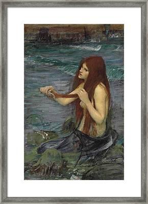 Sketch For A Mermaid Framed Print