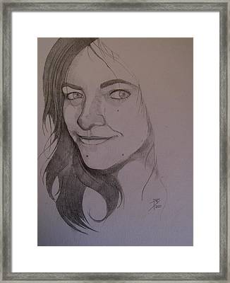 Sketch For Allison Framed Print by Ray Agius