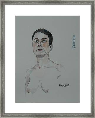 Sketch For Gabrielle Framed Print by Ray Agius