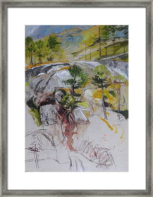 Sketch For Ogwen Painting Framed Print by Harry Robertson