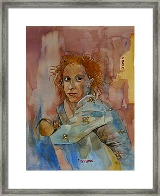 Framed Print featuring the painting Sketch For Sarah by Ray Agius