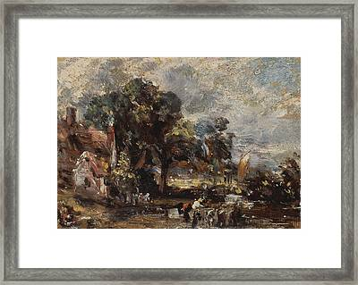Sketch For The Haywain Framed Print