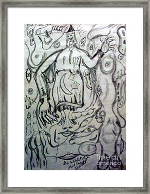 Sketch For Witch Bitch Framed Print by Neil Trapp