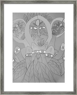 Sketch Idea For Wild Look Framed Print by Betty  Roberts