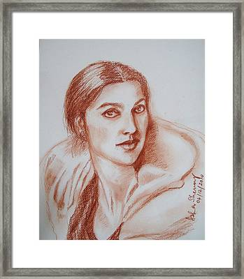 Sketch In Conte Crayon Framed Print