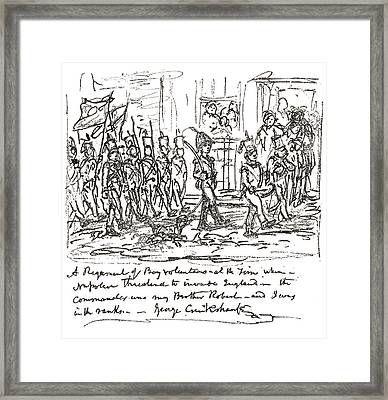 Sketch In Pen And Ink By George Framed Print by Vintage Design Pics