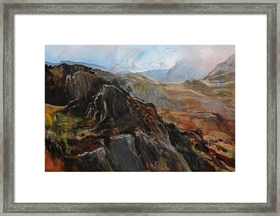 Sketch In Snowdonia Framed Print by Harry Robertson