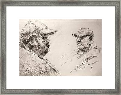 Sketch Man 10 Framed Print