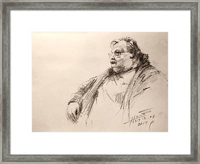Sketch Man 12 Framed Print