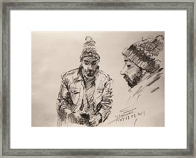 Sketch Man 13 Framed Print