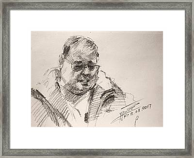 Sketch Man 14 Framed Print