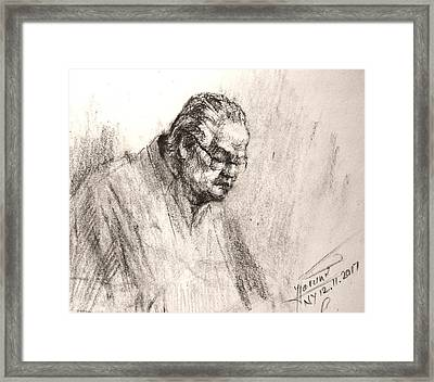Sketch Man 17 Framed Print
