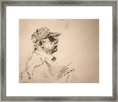 Sketch Man 19 Framed Print