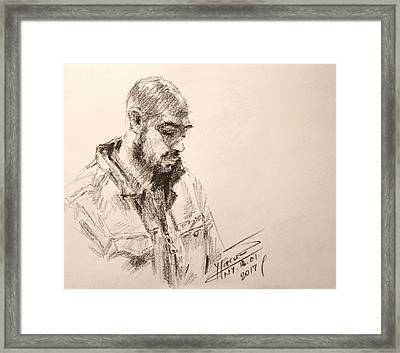 Sketch Man 9 Framed Print