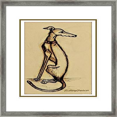 Sketch  Of  A   Greyhound  Dog Framed Print