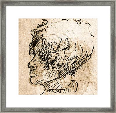 Sketch Of A Young Woman Framed Print by Dan Earle