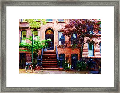 Sketch Of Carrie's Place From Sex And The City Framed Print by Randy Aveille
