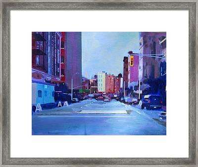 Sketch Of Manhattan Framed Print by John Tartaglione