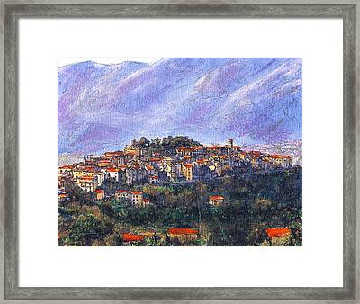 Sketch Of Potenza Framed Print by Randy Sprout