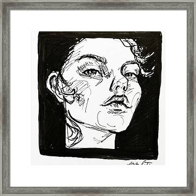 Sketchbook Scribbles Framed Print