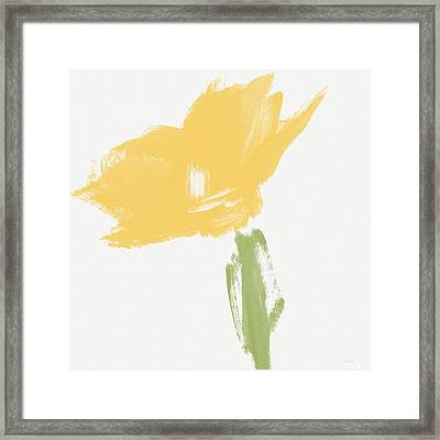 Sketchbook Yellow Rose- Art By Linda Woods Framed Print by Linda Woods