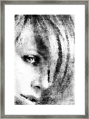 Sketched Charlize Framed Print by Andrea Barbieri